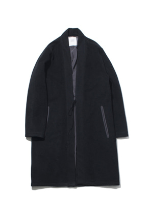 Gakuro가쿠로 Oriental Wool Coat Black