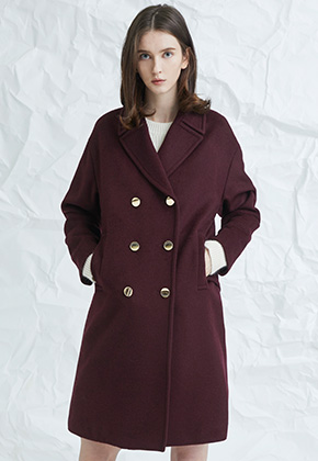 Millogrem밀로그램 Blume Coat_Wine