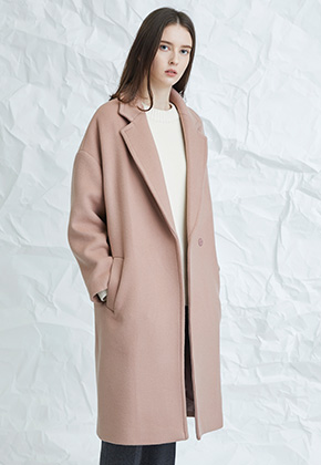Millogrem밀로그램 Muted Pink Snap Coat_Pink