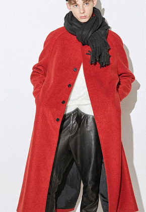 Haleine알렌느 RED oversize maccoat