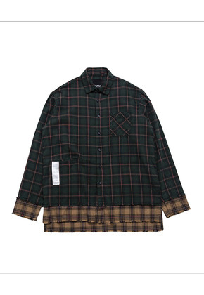 HANAH하나 CHECK SHIRT(GREEN)