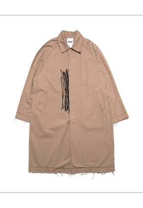 HANAH하나 RAW-CUT TRENCH COAT(BEIGE)