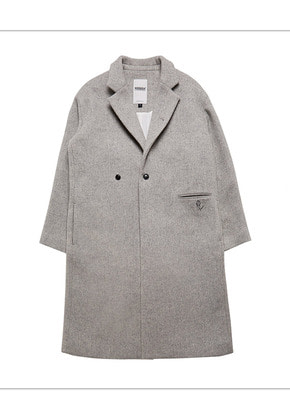 HANAH하나 HEAVY WOOL COAT(GRAY)