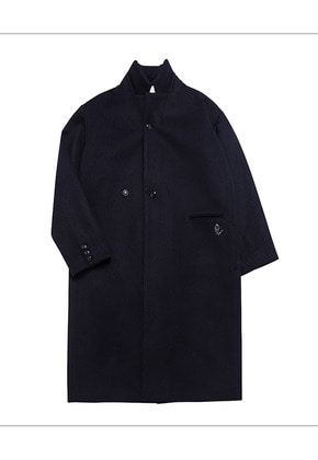 HANAH하나 HEAVY WOOL COAT(NAVY)