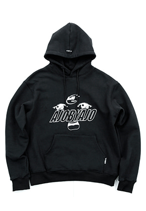 AJO BY AJO아조바이아조 Oh-Face Hood [Black]