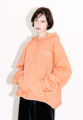 Enzoblues엔조블루스 OVERSIZE LOGO HOODY (ORANGE)