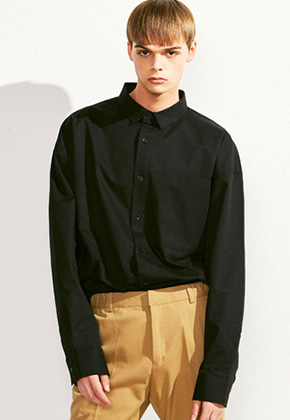 Voiebit브아빗 V414 OVERFIT BIG POCKET SHIRTBLACK