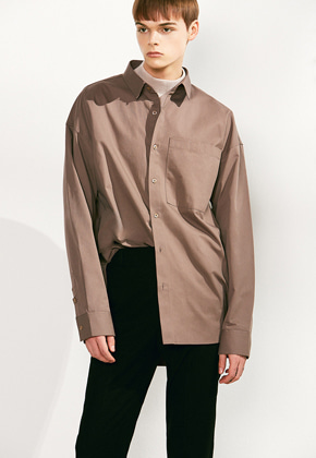 Voiebit브아빗 V414 OVERFIT BIG POCKET SHIRTCOCOA