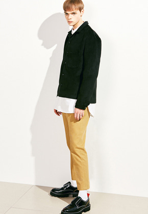 Voiebit브아빗 V613 WOOL POCKET SHORT SHIRTBLACK