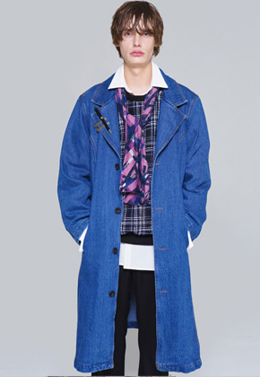 The Greatest더 그레이티스트 Denim Long Coat