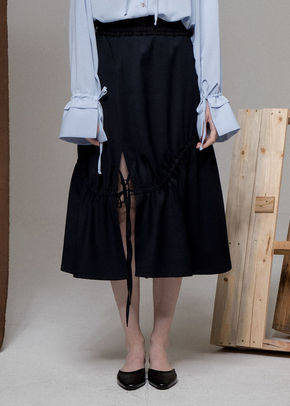 Ainsinov앙시노브 STRING SKIRT (NAVY)