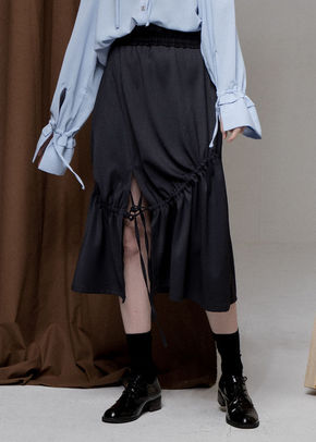 Ainsinov앙시노브 STRING SKIRT (DARK GREY)