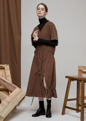 Ainsinov앙시노브 STRING DRESS (BROWN)