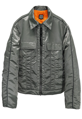 MPQ엠피큐 LINE REFLECTION_MOTIVE PADDING JACKET (GRAY KHAKI)
