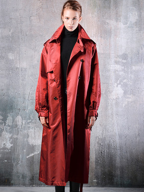 Masa De Oscura마사드오스큐라 UNISEX OVERSIZE TRENCH COAT_RED