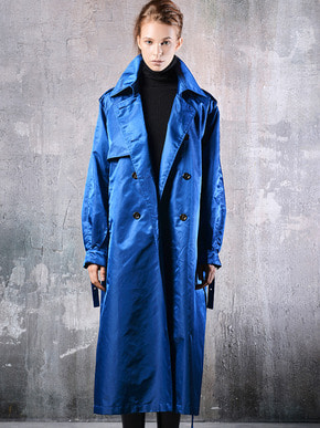 Masa De Oscura마사드오스큐라 UNISEX OVERFIT TRENCH COAT_BLUE