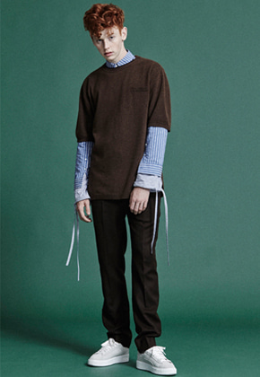 NOHANT노앙 WINTER KNIT T-SHIRTS BROWN