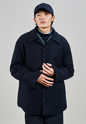 SEC세크 [UNISEX] Shirt Padded Coat_Galaxy Navy