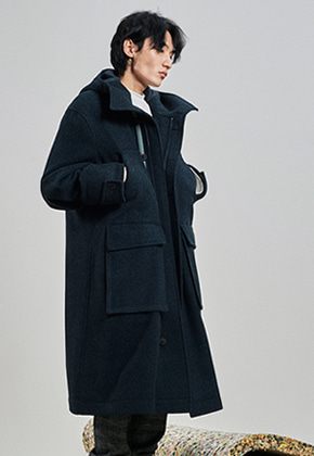 SEC세크 [UNISEX] Oversize Hoodie Coat_Night Forest