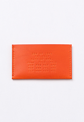 Son of Love DATA PLATE SERIES - CARD HOLDER [ORANGE]