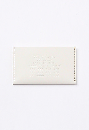 Son of Love DATA PLATE SERIES - CARD HOLDER [WHITE]