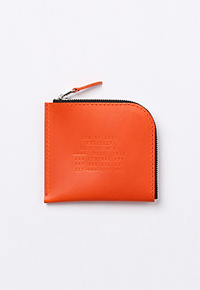 Son of Love DATA PLATE SERIES - HALF ZIP WALLET [ORANGE]