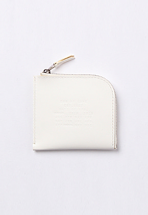 Son of Love DATA PLATE SERIES - HALF ZIP WALLET [WHITE]