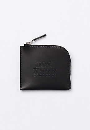 Son of Love DATA PLATE SERIES - HALF ZIP WALLET [BLACK]