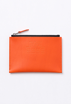 Son of Love DATA PLATE SERIES - ZIP POUCH WALLET [ORANGE]