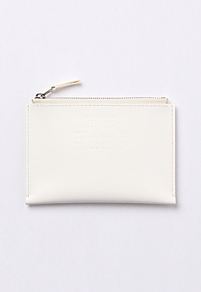 Son of Love DATA PLATE SERIES - ZIP POUCH WALLET [WHITE]