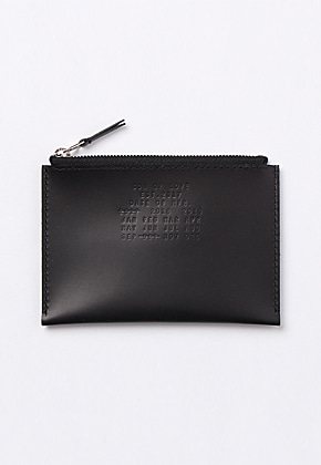 Son of Love DATA PLATE SERIES - ZIP POUCH WALLET [BLACK]