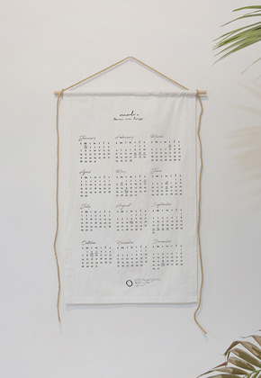 More or Less모어올레스 COTTON CALENDAR 2018