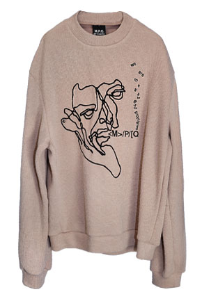 MPQ엠피큐 FISHERMAN CROQUIS_KNIT SWEATER (L.BEIGE)