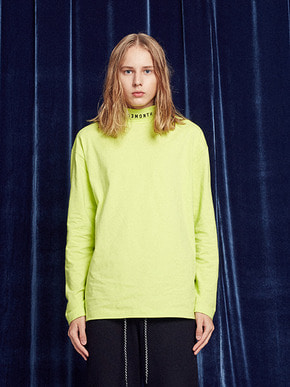 13Month써틴먼스 TURTLENECK LONG SLEEVED TEE (LIME)