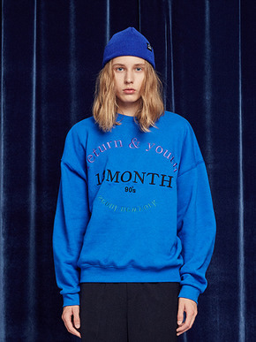 13Month써틴먼스 RETURN AND YOUTH SWEATSHIRT (BLUE)