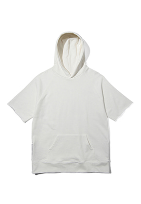 Lab101랩원오원 LH2WHS12WHITE ZIPPER SHORTS HOODY