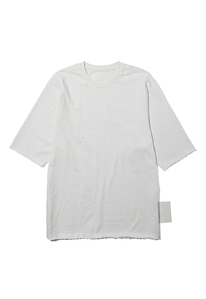 Lab101랩원오원 LH2WTS15WHWHITE DESTROY SINGLE TEE