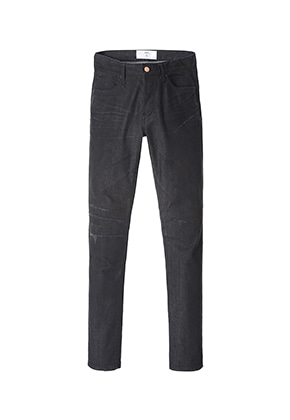 Lab101랩원오원 LH3DBE41BKBEN BLACK DENIM KNEE STITCH