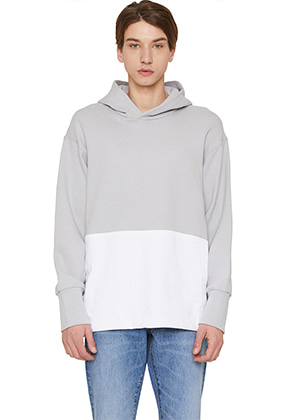 Lab101랩원오원 LI1WHL03GYGRAY FRONT COLOR BLOCK POCKET L/S HOODY
