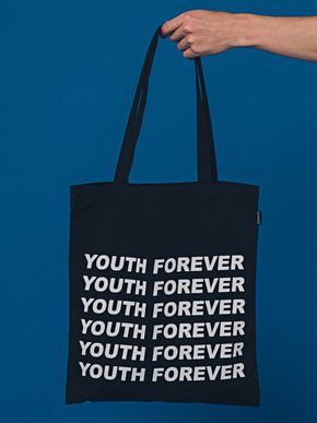 Boniee보늬 Slogan_black(bag)_Youth forever
