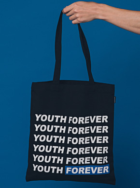 Boniee보늬 Slogan_blue(bag)_Youth forever