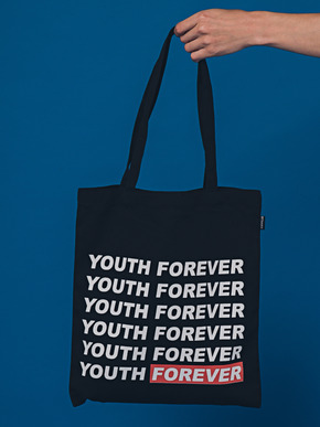 Boniee보늬 Slogan_red(bag)_Youth forever