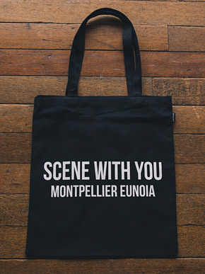 Boniee보늬 Slogan_black(bag)_Scene with you