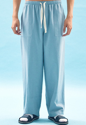 Freiknock프라이노크 WIDE COTTON SWEAT PANTS(BLUE)