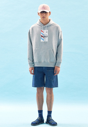 Freiknock프라이노크 FLY TICKET PRINTED HOODIE(GREY)