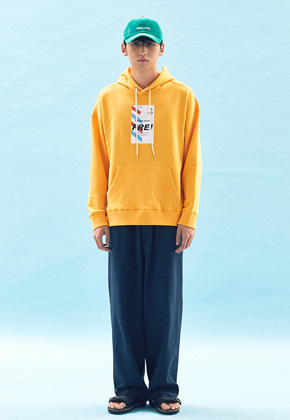Freiknock프라이노크 FLY TICKET PRINTED HOODIE(YELLOW)