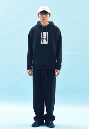 Freiknock프라이노크 FLY TICKET PRINTED HOODIE(BLACK)