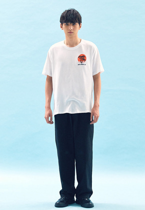 Freiknock프라이노크 SUNSET PRINTED T-SHIRT(WHITE)
