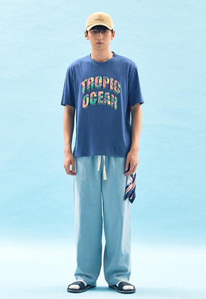 Freiknock프라이노크 TROPIC OCEAN T-SHIRT(BLUE)
