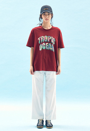 Freiknock프라이노크 TROPIC OCEAN T-SHIRT(RED)
